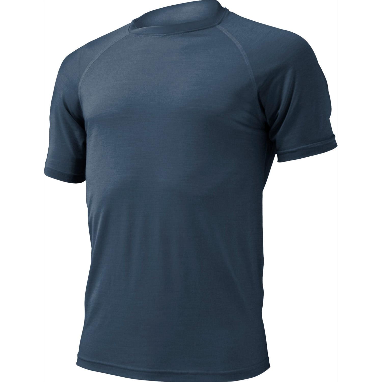 t-shirt til herrer af 100% merinould Quido blå