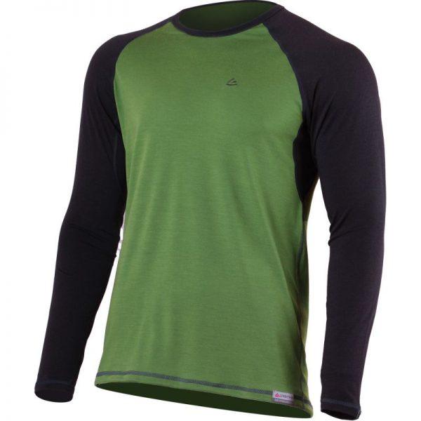 mario 6080 zelena panske vlnene merino triko Cheapsheep